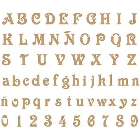Stencil Deco Abecedario 008. Medidas aproximadas: Medida exterior del stencil: 20 x 30 cm Medida del diseño:2 x 1,8 cm Medida de la figura 1: 2 x 1,8 cm Medida de la figura 2: 1,7 x 1,2