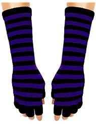 Gothic Armstulpen - Purple Stripes