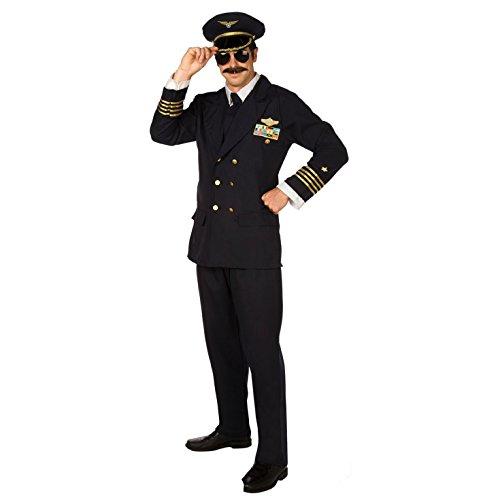 Blau Pilot Herren Kostüm Große (Kostüme Pilot Air)