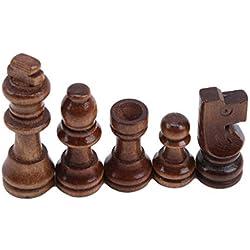 LIXIAQ1 Piezas de ajedrez de Madera Piezas de ajedrez Juego de ajedrez Piezas Regalo, Madera, como se Muestra en la Imagen, 2.5-5.3cm