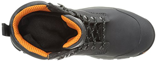 Timberland PRO Men s 6 Inch Stockdale Grip Max Alloy Toe Work and Hunt Boot  Black Microfiber  4 M US