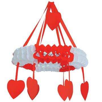 a. 75 cm, rot-weiß (Rote Herz Kranz)