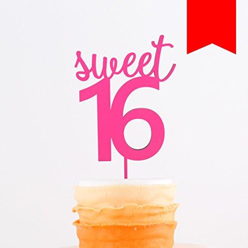 KLEINLAUT 3D-Schriftzug Caketopper Sweet 16