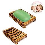 Jabonera de madera, caja de jabón de madera natural, plato de jabón hecho a mano, soporte de jabón para...