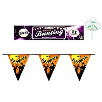 WOW Halloween Spooky Party Decorations Bunting Flag Banner - 12ft with pack of 3 Balloons