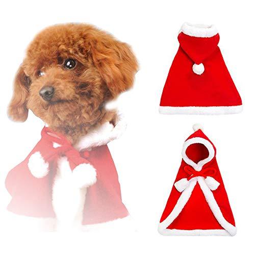 Petilleur Hundekostüm Weihnachten Hundebekleidung Weihnachten Neujahr für Welpen -