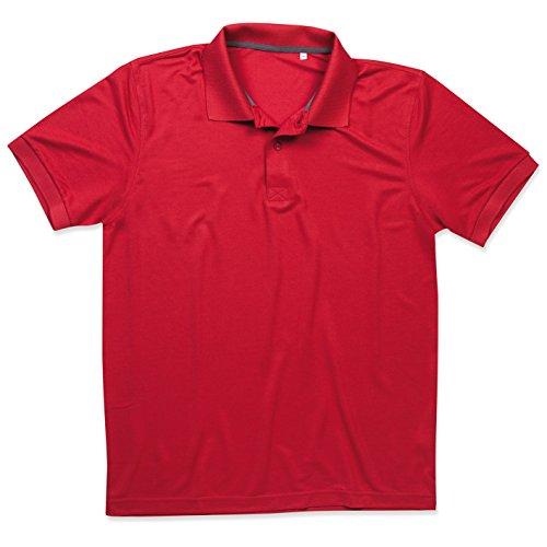 Stedman Sport-Polohemd für Herren, Atmungsaktiv, Original Active Sports - Größe L, rot