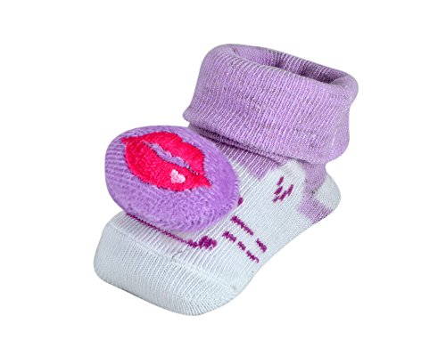Instabuyz Shoes | Booties For Baby Boys | Girls | Kids | Children | Made Of Soft Cotton Fabric Material | Light Weight Comfortable Wearable For Infants | Designer Trendy Printed Fashionable Stylish | Perfect For Occasions Like Birthdays Parties Festivals sandals | All Weather Sandels For Babies | Age Group 6-18 Months | Purple Kiss  available at amazon for Rs.120