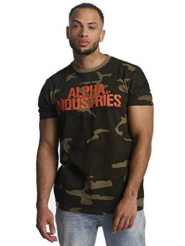 Alpha Industries Blurred T-Shirt Camouflage XL