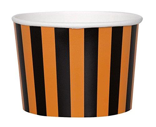 estreift Halloween Eis Tubs, 8Stück (Orange Popcorn Für Halloween)