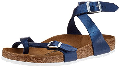 BIRKENSTOCK Classic Damen Yara Birko-Flor Riemchensandalen, Blau (Graceful Sea), 39 EU (Birkenstock-clog-sandale)