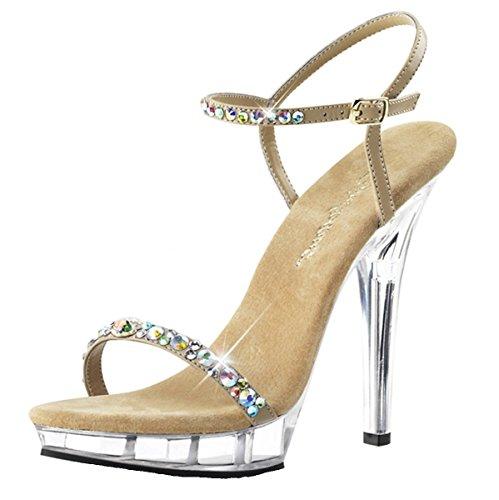 High Heels Sandaletten, Damen, Beige (beige) Beige (Beige)