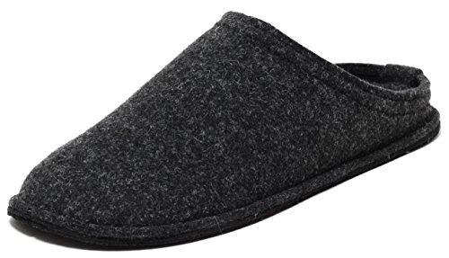 Zapato Herren Filz Hausschuhe Slipper ANTHRAZIT DUNKELGRAU Gr.42–45 (45) Hüttenhausschuhe Slipper Pantoffeln Filzhausschuhe Puschen Komfortschuhe Made IN EU