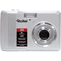 Rollei Compactline 130 Digitalkamera (10 Megapixel, 3-fach opt. Zoom, 6,4 cm (2,5 Zoll) Display) silber