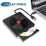 Externes DVD Laufwerk,Eletorot Tragbarer USB 3.0 und Type-C Brenner CD/VCD/DVD/CD-ROM Karte Reader USB DVD Player,für Laptop Desktop Windows und Mac IOS