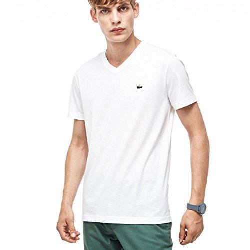 Lacoste T-shirts - Lacoste Short Sleeve Pima Je... (V-neck Pima Tee)
