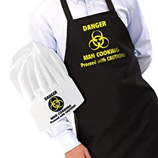 Danger Man Cooking Apron and Chef's Hat Set