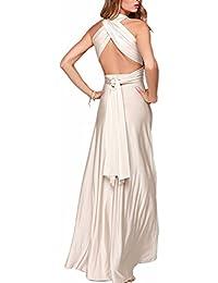 EMMA Mujeres Falda Larga de Cóctel Vestido de Noche Dama de Honor Elegante  sin Respaldo 0cc5c787ca72