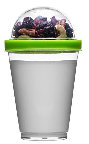 Sagaform polysthyrene Kunststoff Joghurt Tasse mit Speicher, grün