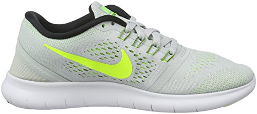 Nike Free Rn, Chaussures de Running Entrainement Femme Argent (Pure Platinum/Volt Black Wolf Grey)