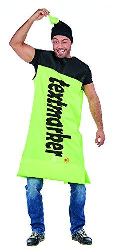 Textmarker Kostüm gelb-grün Stift Spaßkostüm Fasching Partnerkostüm Karneval - Textmarker Kostüm