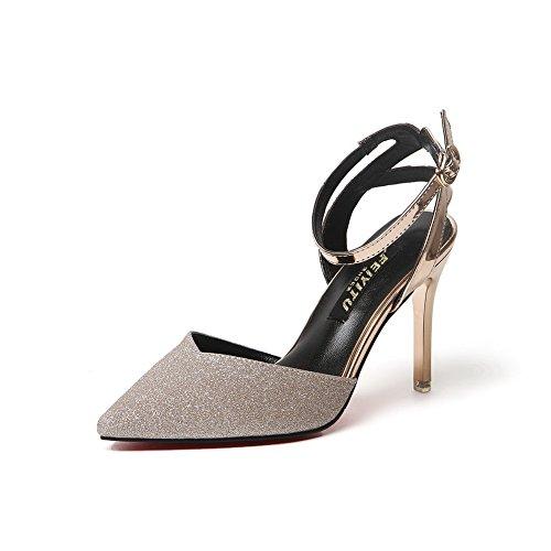 Desconocido 1to9mmsg00018 - Sandalias Con Cuña De Mujer De Oro