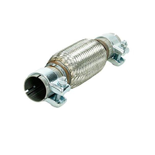 Tubo flessibile in acciaio inox Interlock 40,5x 150mm con fascette