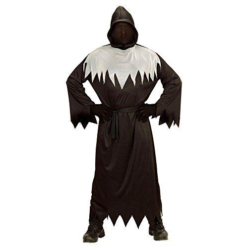 chsenenkostüm Ghoul, Robe mit Kapuze und unsichtbarem Gesicht, Gürtel, Größe L, schwarz (Disfraz Demonio Halloween)