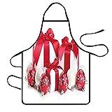 YSFWL YSFWL Schürze Grillschürze Weihnachten wasserdichte Schürzen Verstellbare Kochschürze Taschen Bequeme LatzschüRze KüChenschüRze WeihnachtsschüRze Twill Kittelschürze Für Frauen MäNner