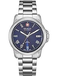 Swiss Military Swiss para hombre reloj infantil de cuarzo con Corporal azul esfera analógica y plateado correa de acero inoxidable de 6-5259, 04,003
