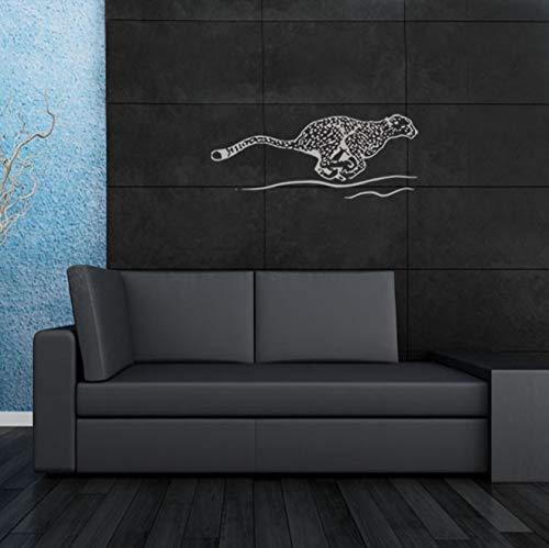Qqasd Kinderzimmerdekoration Animal Flying Leopard Wandaufkleber Wasserdichter Aufkleber Pvc 57X69Cm (Flying Leopard)