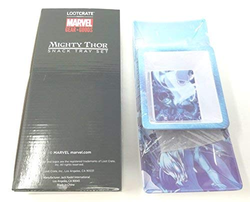 The mighty Thor - Zwei Stück Snack Tablett Set - Marvel Gear + Waren Exklusive (Thor Gear)