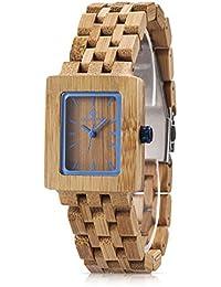 amexi bambú Mujer Reloj Relojes mujeres Madera de Cerezo los mejores accesorios Marrón