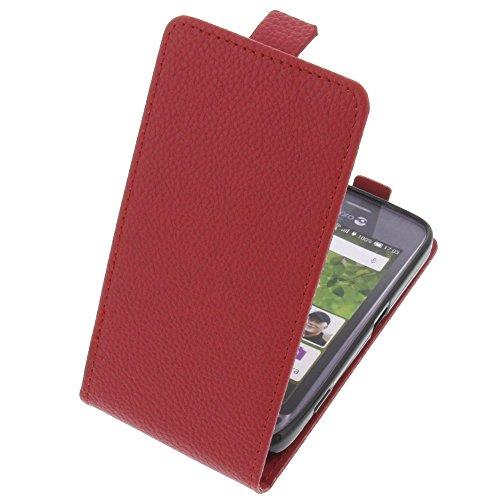 foto-kontor Tasche für Doro Liberto 820 Mini Smartphone Flipstyle Schutz Hülle rot