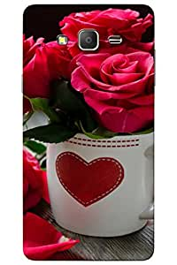 AMAN Cup Roses 3D Back Cover for Samsung Galaxy J7