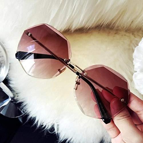 BHLTG Sonnenbrille weibliche Flut Persönlichkeit rundes Gesicht Strand Sonnenbrille elegante Flut Mode langes Gesicht Sonnenbrille Outdoor-Sport Reiten Spiegel-1 fahren