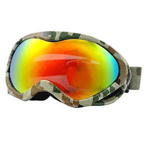 hinffinity Kinder Skibrille Anti-Fog-Bergsteigen Staubdicht Winddicht Outdoor-Brille Jungen Schnee Skibrille Jungen Und Mädchen/Erwachsene, Outdoor/Sport/Bergsteigen