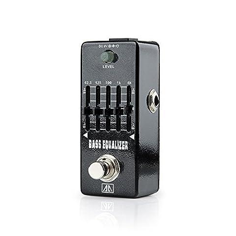 AA AEB-5 Bass Equalizer Mini Gitarren-Effekte Effektpedal Schallpegel Regelung für Gitarre Bass - Lightwish
