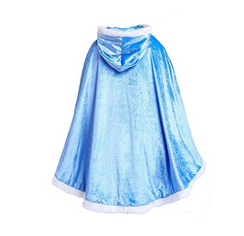 Kidslove Prinzessin Schal Winter Mädchen Cape Prinzessin Kostüm Karneval Cosplay Kleidung Party Prinzessin Schal für Mädchen (Cape Prinzessin)