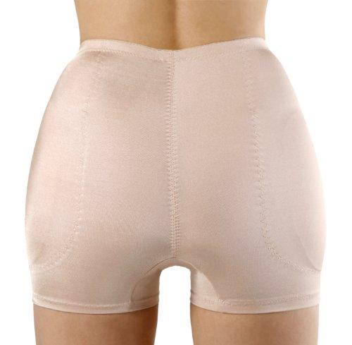 SODACODA Hüfthose - Schaumstoff gepolsterte hüftformende Hose - Erzeugt runde, kurvige Hüften und einen schlanken Bauch - Hip Pants (Beige, S)