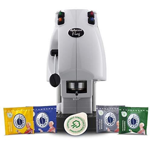 Didiesse Frog Revolution Bianco - Magica Emozione pack (Macchina da Caffè a Cialde + 60 cialde)