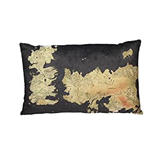 Game Of Thrones – Mapa – Cojín Westeros – Logo – 55 x 35 x 8 cm