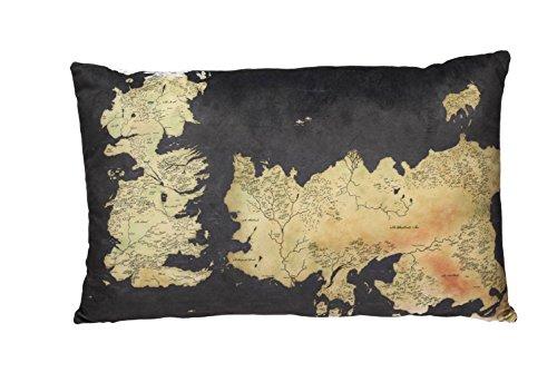 Game of Thrones - Kissen - Landkarte - Westeros - Logo - 55 x 35 x 8 ()