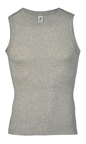 Engel Natur Herren-Achselshirt aus 100% kbA-Baumwolle mit Nadelzug Grau