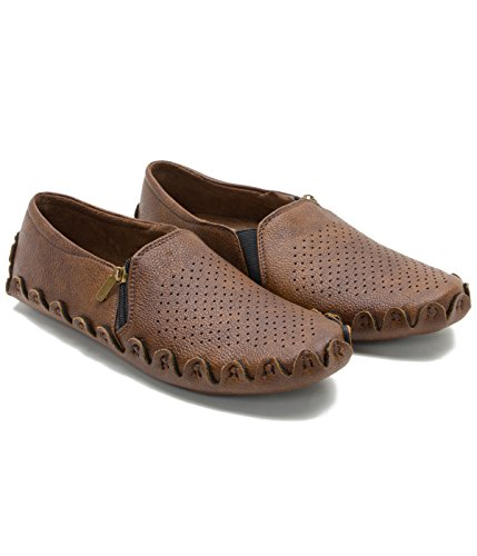 Zixer Brown Synthetic Casual loafers for Men