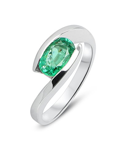 Bague Or 750 Emeraude ref 31907