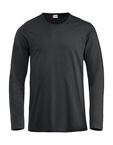 Clique - Langarm T-Shirt 'Fashion-T LS' Schwarz