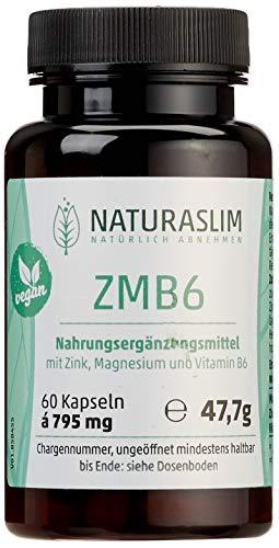 ZMB6 Kapseln | Zink, Magnesium, Vitamin B6 | Gesunde Knochen, Haare & Nägel | vegan | Naturaslim -