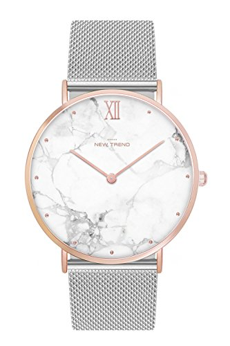 New Trend - Love for Accessories Damen Uhr analog Quarzwerk mit Edelstahl Armband 9C-U03P-8NJ6