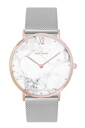 New Trend Unisex Armbanduhr Damen-Uhr Herren-Uhr Trend-Uhr Blogger-Uhr Analog Quarzwerk elegantes Marmor-Design Armband Leder Textil Metall verschiedene Farben